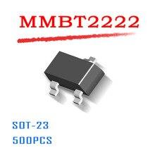 MMBT2222 SOT-23 500 PCS SMD 40 V 600mA fonte de Alimentação 0.6A dados dentro SOT23 NPN 2N2222 MMBT2222A Original de alta qualidade SOT 23