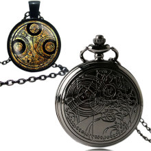 Uk movie Doctor Who Pocket Watch men quartz fashion Necklace Dr Who Seal pendant With Luxury Gift Box Set !!! Free Shipping