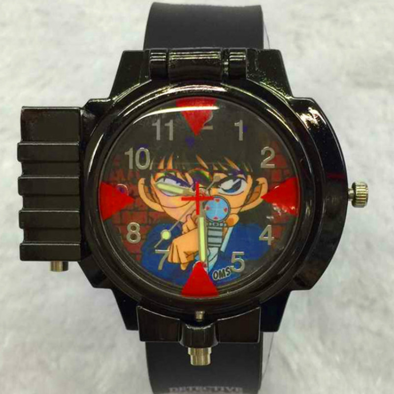 Detective Conan Laser Watch Kids Cartoon Watch Student Watch Conan Children Watch