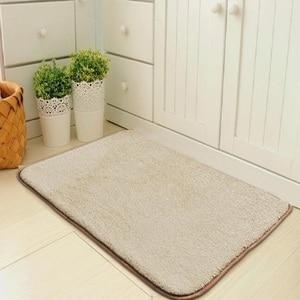 Image 2 - Simples e moderno tapete de entrada da porta do assoalho tapete da porta quarto foyer absorvente tapete do banheiro cozinha