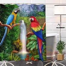 Shower Curtain Bathroom-Products Waterproof Parrot Modern Custom Painting Shunqian
