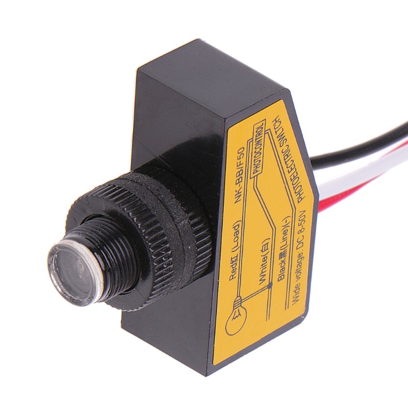 Automatic Light Control Sensor DC12V 24V 36V 48V Dusk To Dawn Photocell Switch in Switches from Lights Lighting