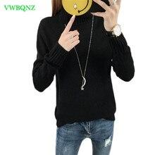 Autumn Winter High collar Hedging Sweater Women Korean Long