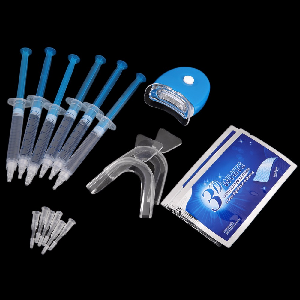 Professional Oral Health Care Teeth Whitening Kit 6 Pieces Whitening Gel And 2 Pair Tooth Whitening Strip Hot New pro teeth whitening oral irrigator electric teeth cleaning machine irrigador dental water flosser teeth care tools m2