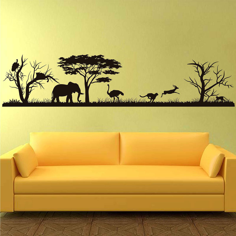 African Safari Wall Decal Forest