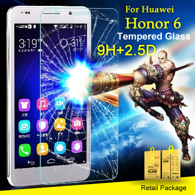 0.2mm Tempered Glass Premium Real Film Screen Protector huawei honor 6 Retail Package - Good View (HK store Trading Co.,Ltd)