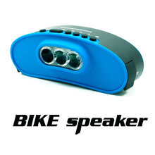 Bicycle LED Light Outdoor Riding Waterproof Dustproof Bluetooth Speaker Wireless Sound System Stereo Music Surround