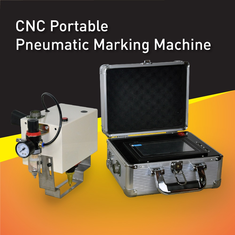Factory wholesale price! CNC portable pneumatic marking machine,dot peen marking equipment for big metal parts,no need PC mp marking machine for nameplate metal machine pin marker dot peen engraving machine for metal parts