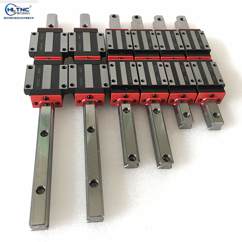 Free fast shipping NEW HGR15 300mm 700mm 1000mm linear guide rail with 12pcs of linear block carriage HGH15CA