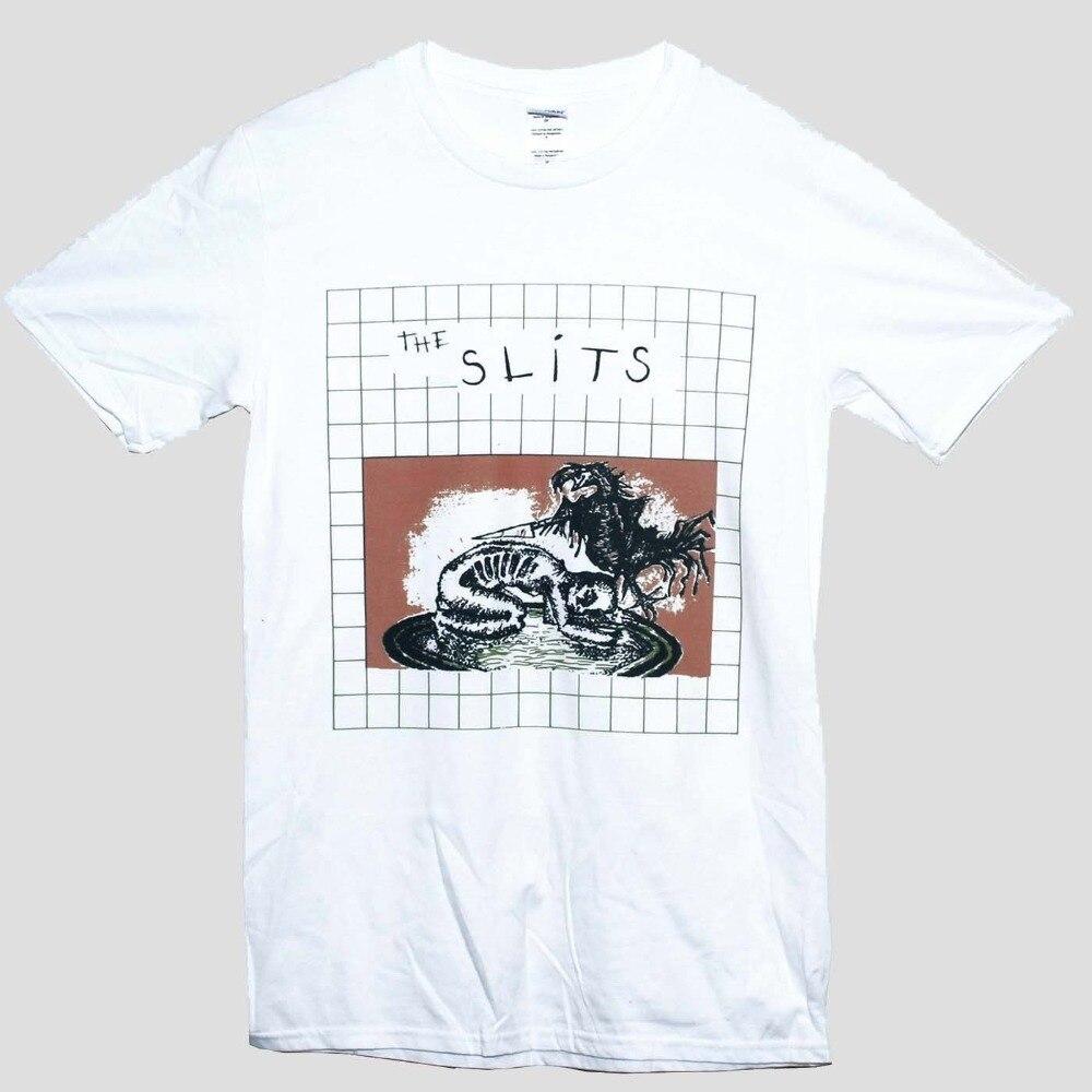 2018 New Fashion Man  THE SLITS T Shirt Bikini Kill L7 Raincoats Punk Rock Tee Sizes S M L XL XXL Funny Casual Clothing