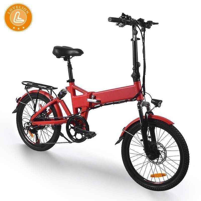 LOVELION Electric bike 20inch Aluminum Folding bike 36V7 5A Battery electric Bicycle 250W Motor Mountain e bike Snow city ebike in Electric Bicycle from Sports Entertainment
