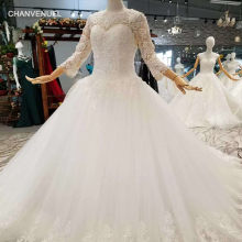 CHANVENUEL LSS047 elegant gown long sleeve wedding dresses