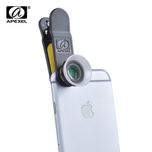 APEXEL 2 in 1 Premium Camera Lens for iPhone and Android with Macro 12X & 24x lens APL-24XM(China)