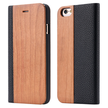 Natural Bamboo Flip Cases For iPhone
