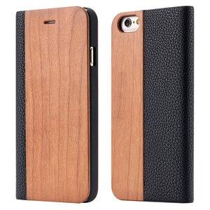 Image 5 - Чехол из бамбукового дерева для iPhone 12, 11 Pro, 11, 12 Mini, чехол кошелек из искусственной кожи для iPhone XR, X, XS, Max, 7, 8 Plus, деревянный чехол книжка