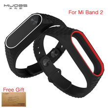 Newest Original Mijobs Colorful Silicone Strap Bracelet Double Color for Xiaomi Mi  Band 2 Replacement Wristband Accessories