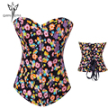 modeling strap Flower black corset and bustiers women slimming body shaper corselet fajas waist modeladoras sheath shaping cinta