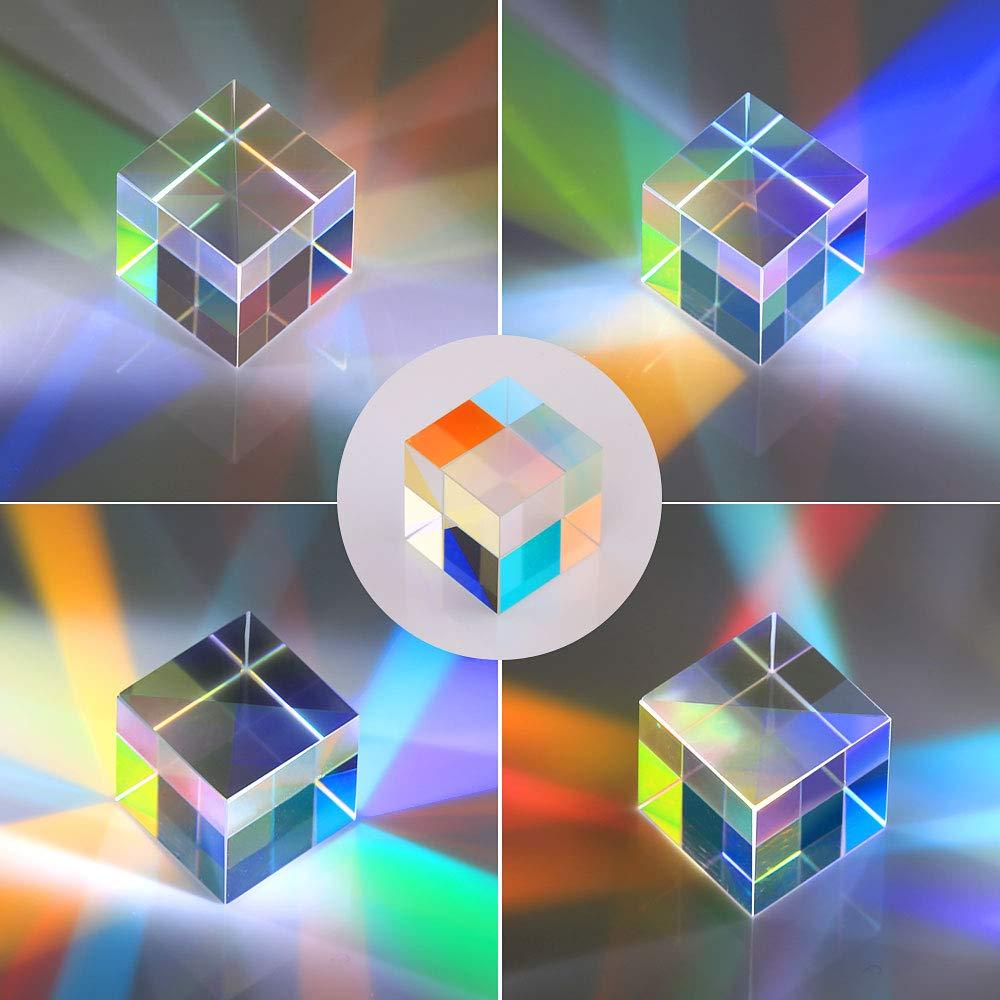 10PCS 2X2X2cm Cube Prism Defective Cross Dichroic Mirror Combiner Splitter Decor Transparent Module Optical Glass Class