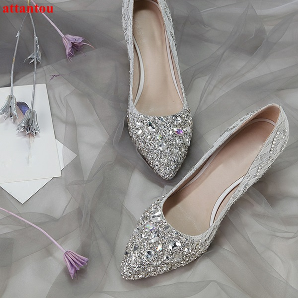 Women Shoes Rhinestone High Heels wedding party dress shoes silver crystal high heels female sexy pumps jeweled glittering women shoes wedding dress bridal shoes big red crystal high heels rhinestone heels golden striate collaterals glittering party