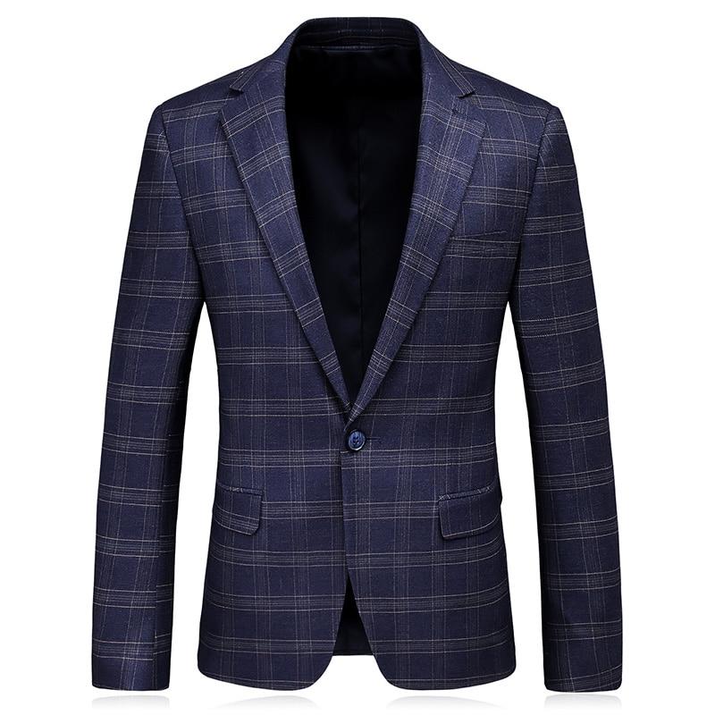 2019 New Style Men s Leisure High Quality Suit Jacket Men Stripe Outerwear Casual Coat Blazer