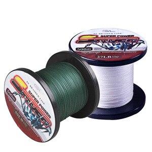Image 1 - 500 м супер Мощность 4 нити плетеная рыболовная леска из ПЭ 2 цвета Linha Pesca Multifilamento рыболовная леска 12 80LB Herramientas De Pesca