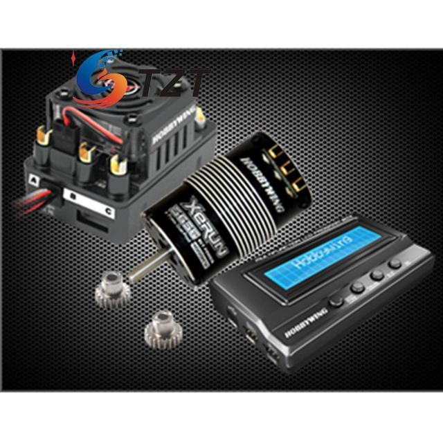 SCT-PRO Hobbywing 4000KV Brushless Motor Sensored/3400KV/4700KV + 3656 Motor + Caixa de Cartão de Programa de LCD para 1/10 carro de Buggy