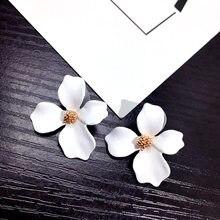 2754cee85be 5 цветов большой цветок серьги для женщин модные вечерние украшения  Праздник 2018 уличный стиль себе Pendientes boho подарок роз.