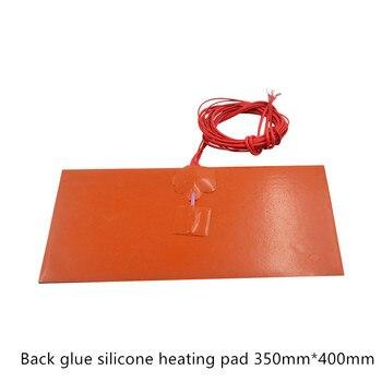 Silikon Bantalan Pemanas Heater 350 Mm X 400 Mm untuk 3d Printer Panas Tempat Tidur 1 Pcs