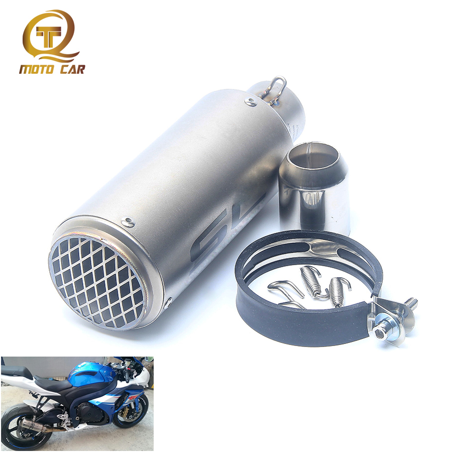 Motorcycle 51mm Exhaust Muffler Pipe Clamp Escape 51mm for Kawasaki NINJA 250 300R Z750 Z800 Z1000 ER6N ER6F ZX10R Honda Cbr650f 36 51mm universal motorcycle double exhaust muffler pipe for z800 gsxr750 zx10r ninja650 two holes muffler cbr1000rr cbr650