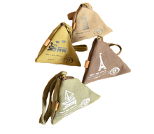 Fabric Triangle coin purse wallet  Small Cute Canvas Bag Men Women Change Money Bag Case Creative Gifts Free Shipping