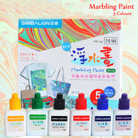 DIY 5 colors Acrylic paint Marbling paint textile paint pigment for fabric wood nail clothing for painting drawing art applies