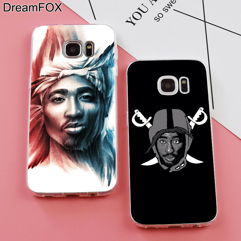DREAMFOX K256 2PAC Soft TPU Silicone Case Cover For Samsung Galaxy Note S 3 4 5 6 7 8 9 Edge Plus Grand Prime