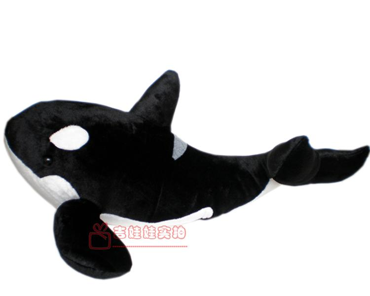 small size new simulation black <font><b>killer</b></font> <font><b>whale</b></font> <font><b>plush</b></font> toy gift about 45cm image