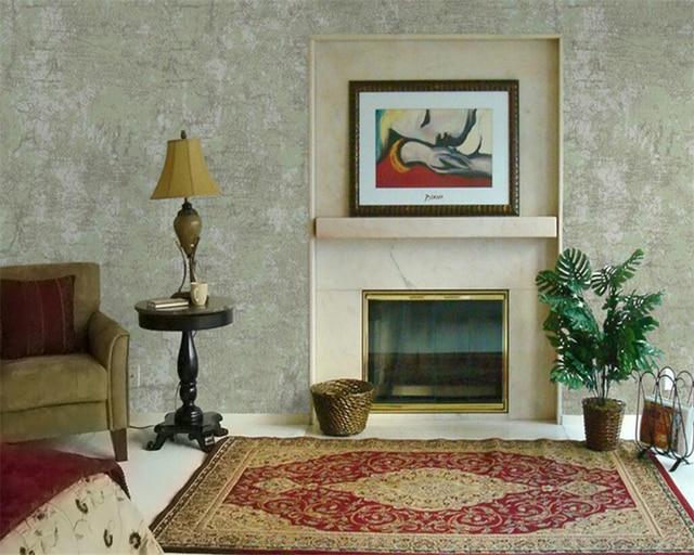 beibehang retro tapete betonwand riss wohnzimmer alten 3d tapete ... - Retro Tapete Wohnzimmer