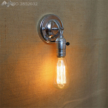 JW_Modern Vintage Loft ajustable lámpara de pared de Metal Industrial Retro pared plateado lámpara de estilo campestre apliques de lámpara de dormitorio