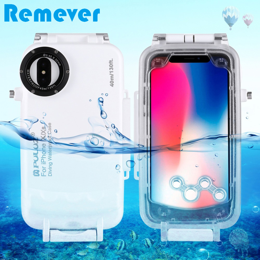 New Case for iPhone X/XS Underwater Housing 40m/130ft Diving Photo Video Phone Protective Case for Swimming Surfing SnorkelingNew Case for iPhone X/XS Underwater Housing 40m/130ft Diving Photo Video Phone Protective Case for Swimming Surfing Snorkeling