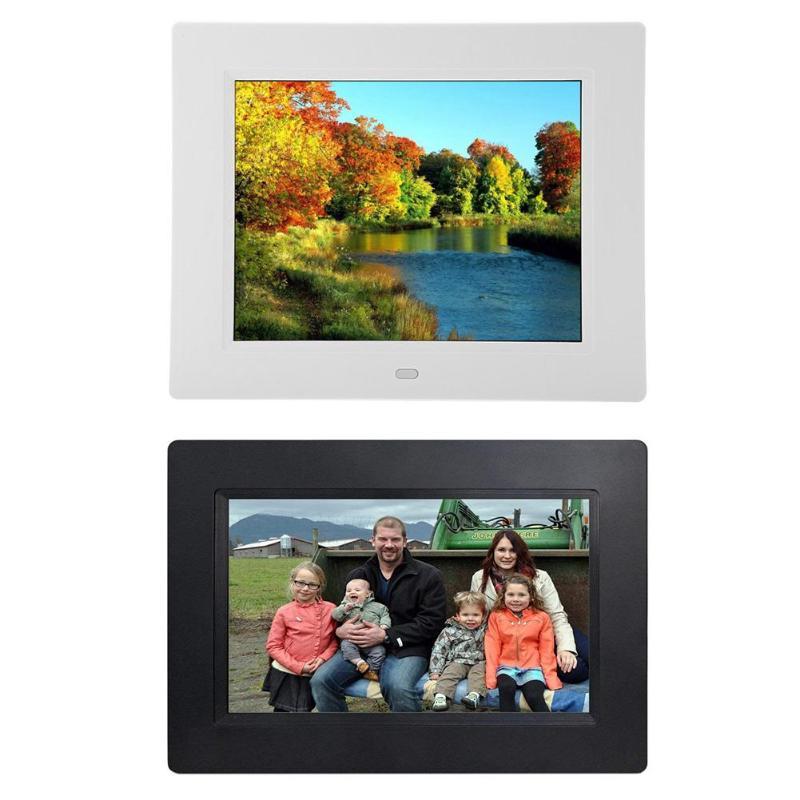 цена на 7 Inch HD LED Digital Screen Digital Photo Frame 800x480 Electronic Calendar Alarm Timer Switch Video Player US Plug
