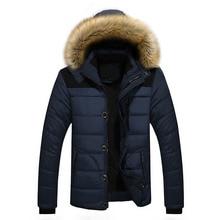 Men Winter Jacket 6XL Plus Size 2017 New Winter Fleece Thick Warm Faux Fur Hooded Jacket Parka Men Quilted Jacket High Qulity