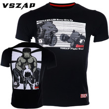 VSZAP Fitness Men T-shirt MMA Fight Wolf Bear Muscle Killer Fighting Sporting Short-sleeved UFC Muay Thai Sanda Wear