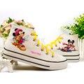 Mickey mouse niños zapatos de mujer zapatillas de deporte casuales niños niñas patean los zapatos de los zapatos del padre-niño