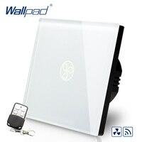 Hot Sales Wallpad EU UK Standard Touch Switch AC 110 250V Wireless Remote Fan Speed Regulator