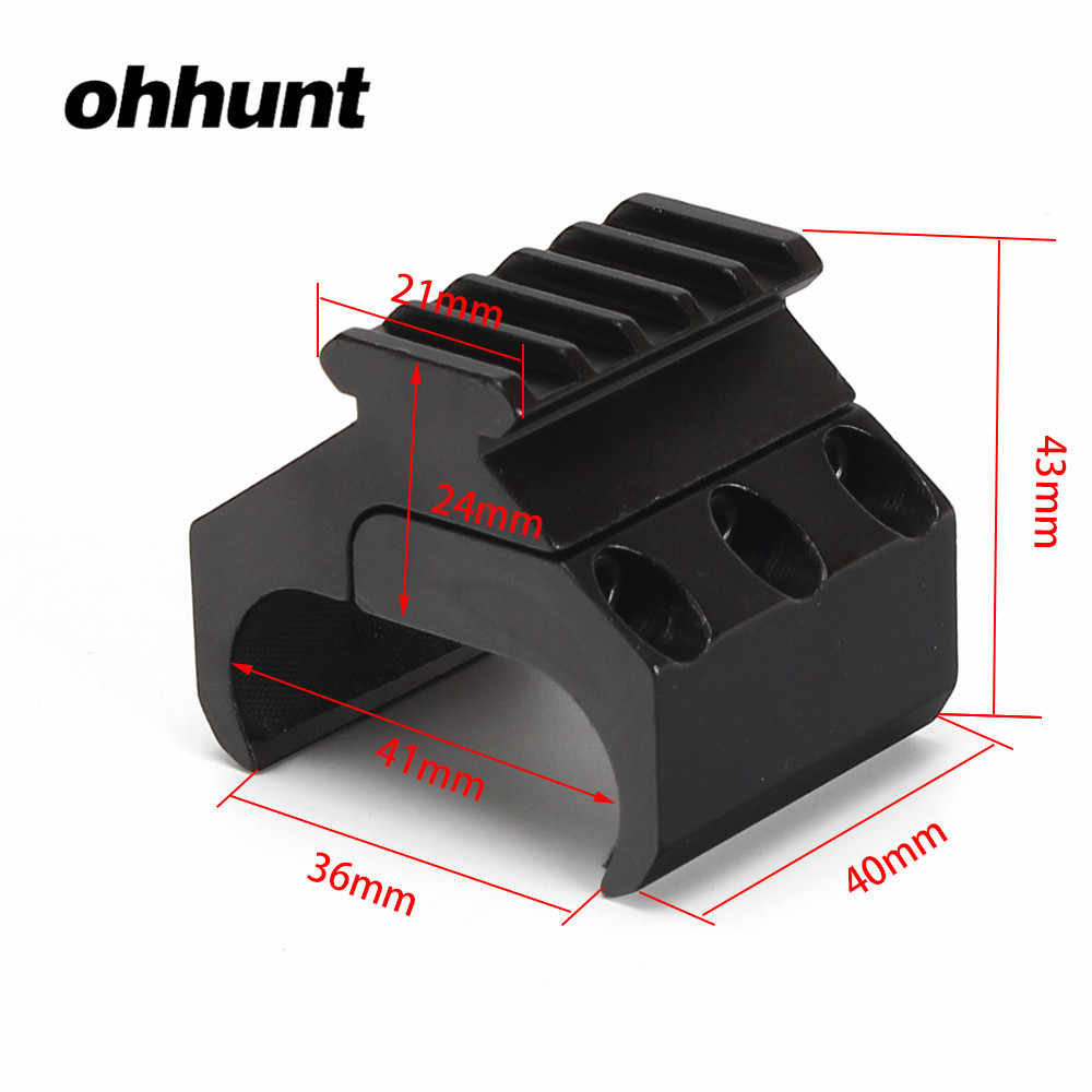 Ohhunt Tactical Hunting Scope 20mm Weaver Picatinny Rail Base Adapter Rifle Barrel Mount Converter Laser Sight Zaklamp Mounts