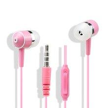 Fones de ouvido Estéreo com fio fones de ouvido de Moda fone de ouvido de telefone Universal 3.5 MM soquete