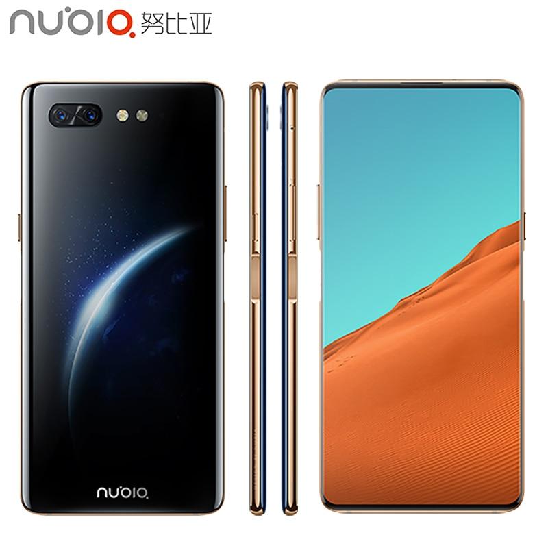 D'origine Nubia X Mobile Téléphone 6.26 pouces 8 GO de RAM 256 GB ROM Snapdragon 845 octa-core Android 8.1 double Caméra 3800 mAh Smartphone