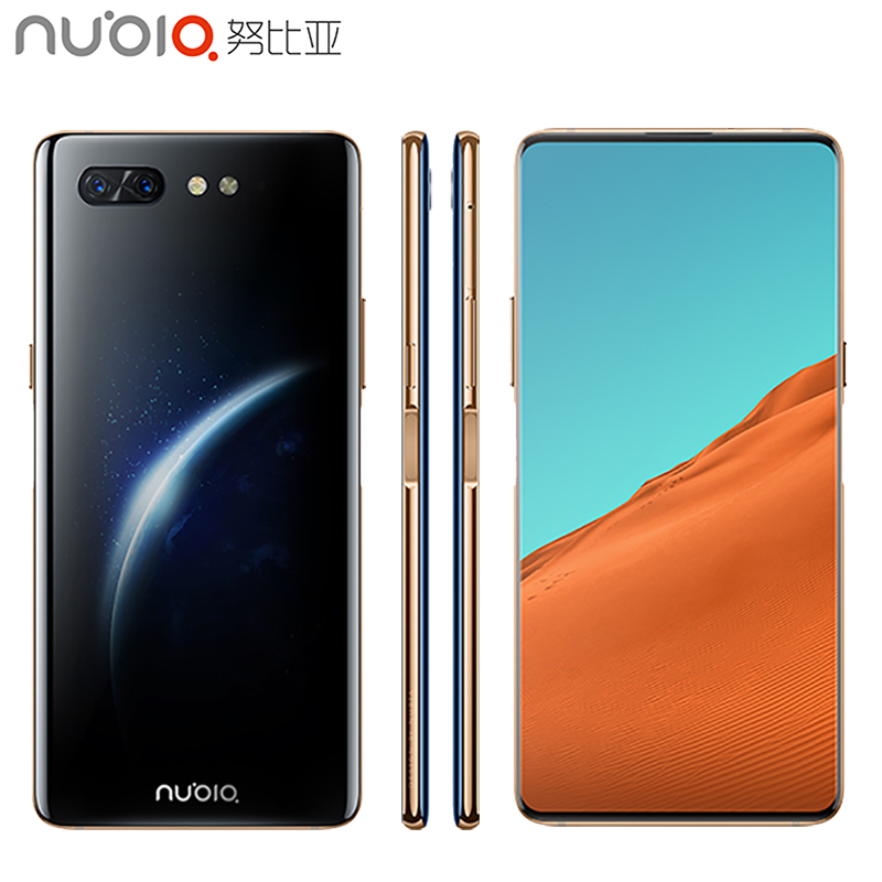 D'origine Nubia X téléphone portable 6.26 pouces 8 GO de RAM 256 GB ROM Snapdragon 845 octa-core Android 8.1 Double caméra 3800 mAh Smartphone