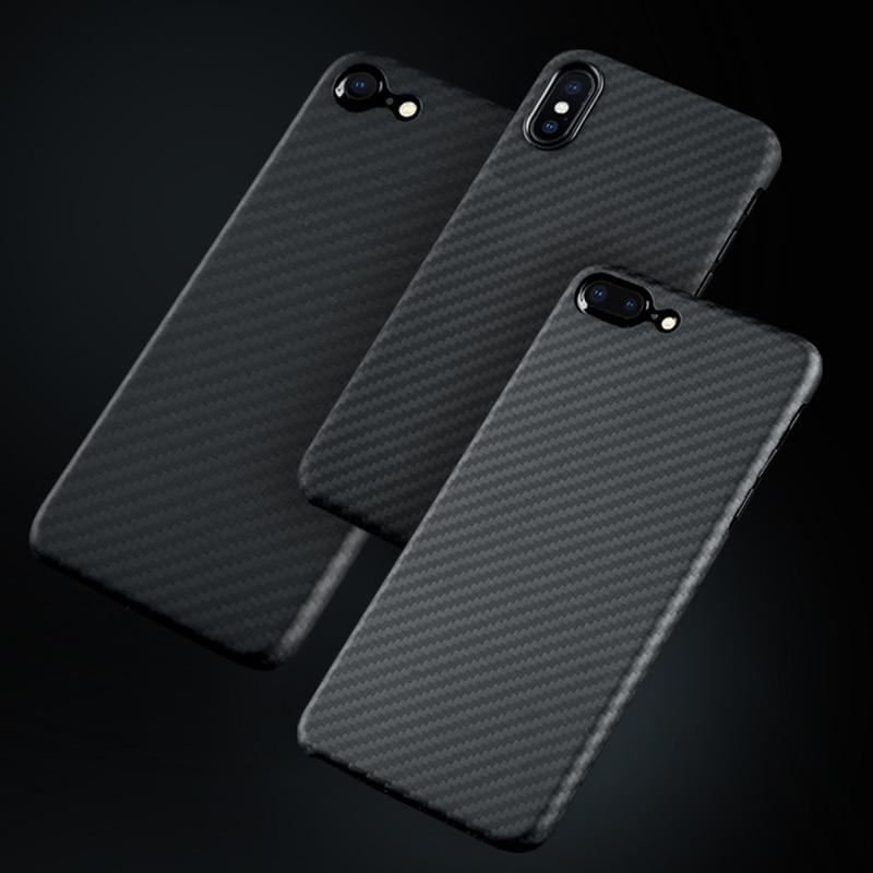 Fibre De Carbone De luxe étui pour iPhone X XS Max XR 7 8 Plus Cas Mat Aramide fibre rouge à lèvres de charme coque pour téléphone pour iPhone XS max - 6