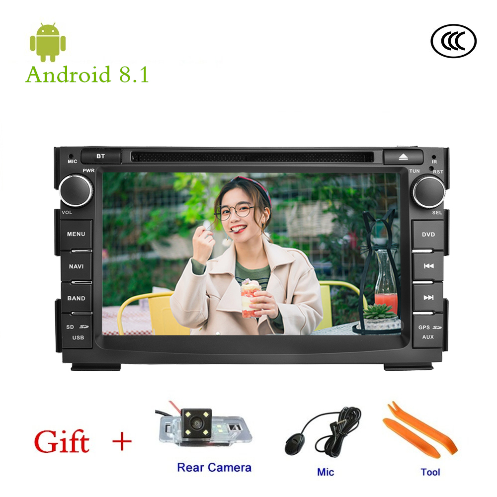 Car DVD player For Kia Ceed GPS stereo audio navigation,Android 8.1,Double DIN Bluetooth ISP 7'' screen