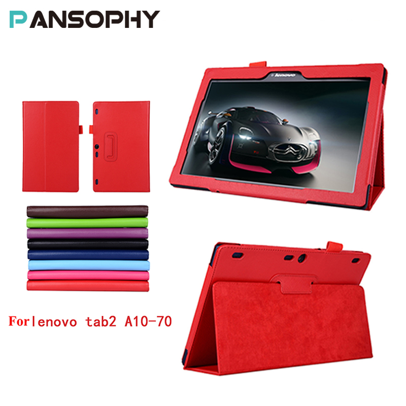 For lenovo Tab 2 A10-70 Smart Tablet Case Cover for Lenovo Tab 2 Tab2 A10-70 A10-70F A10-70L X70F X70L tablet 10.1'' PU leather
