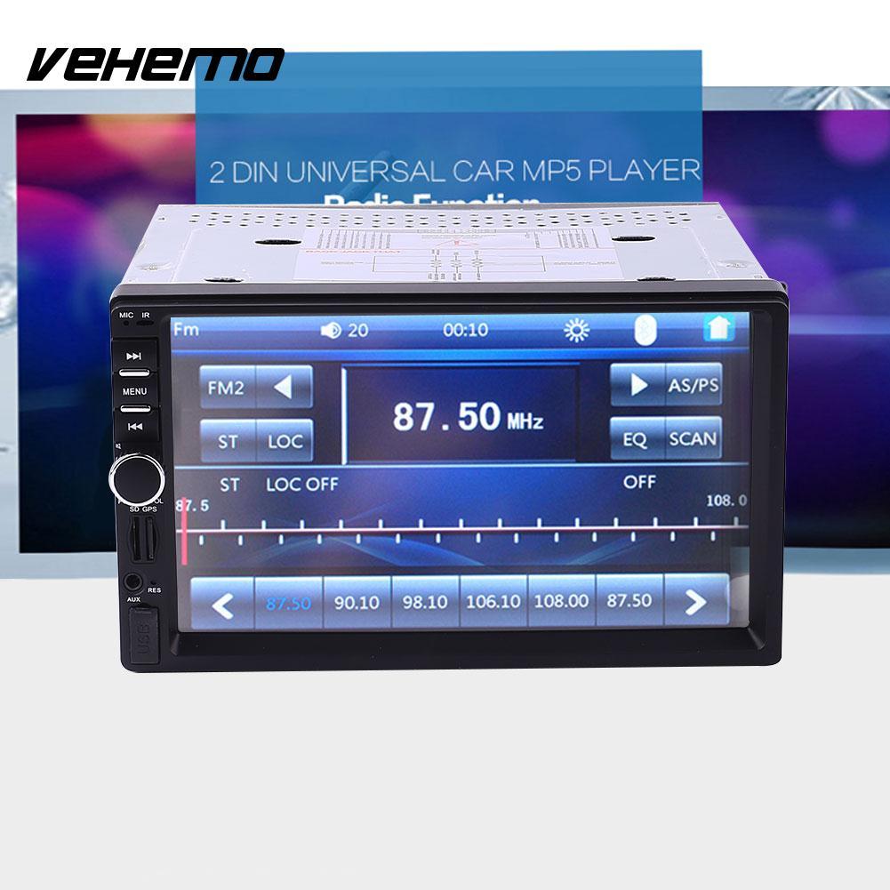 Vehemo New 7 inch Car Vehicle GPS FM Radio Bluetooth No DVD With North America Map ultra thin 7 touch screen lcd wince 6 0 gps navigator w fm internal 4gb america map light blue