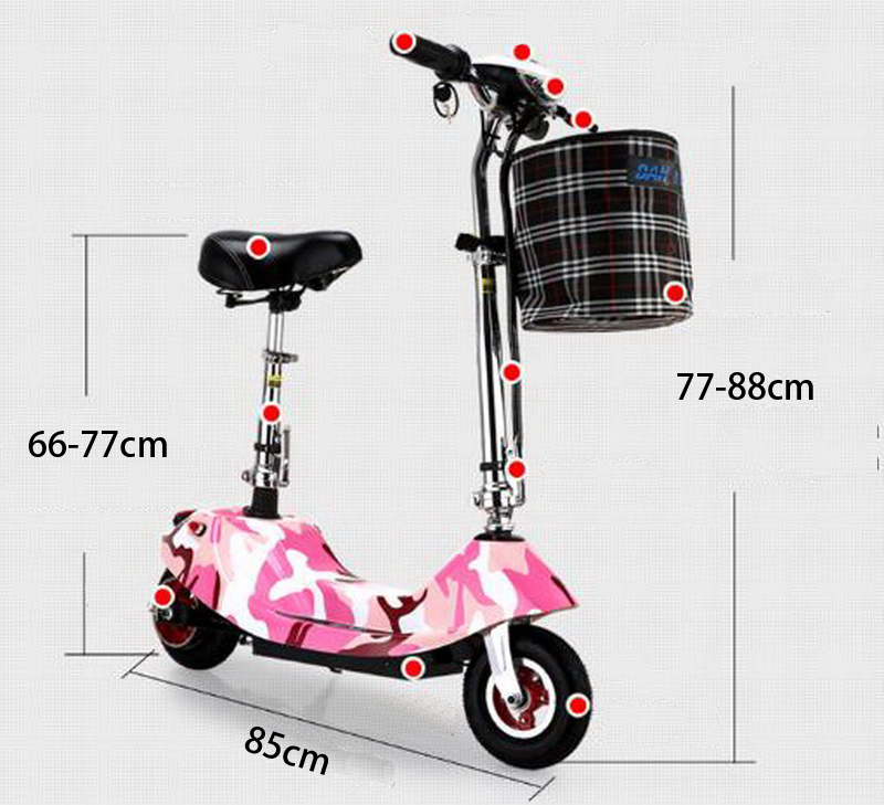 Cheap 261002/Ladies portable mini dolphin electric scooter / can carry children electric bikes / electric cars/Comfortable cushion 4